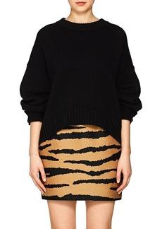 Proenza Schouler Women's Button-Sleeve Wool-Cashmere Sweater