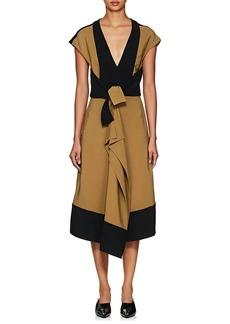 Proenza Schouler Women's Cady & Crepe Ruffle Dress