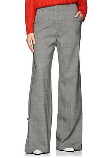 Proenza Schouler Women's Checked Stretch-Wool Wide-Leg Trousers