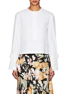 Proenza Schouler Women's Cotton Crop Henley Blouse