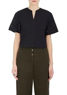 Proenza Schouler Women's Cotton Poplin Crop Top