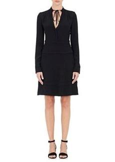 Proenza Schouler Women's Crepe Peplum-Waist A-Line Dress-Black Size 0