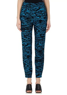 Proenza Schouler Women's Flocked Skinny-Leg Pants