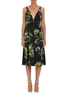 Proenza Schouler Women's Floral Silk Crepe V-Neck Dress