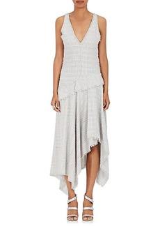 Proenza Schouler Women's Fringe Tweed V-Neck Dress