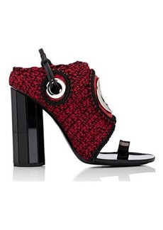 Proenza Schouler Women's Grommet-Embellished Crochet Slingback Sandals