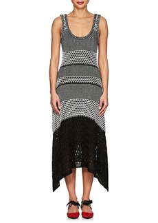 Proenza Schouler Women's Handkerchief-Hem Mixed-Stitch Dress