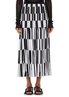 Proenza Schouler Women's Jacquard Knife-Pleated Long Skirt