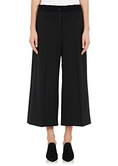 Proenza Schouler Women's Lace-Accented Stretch-Wool Culottes