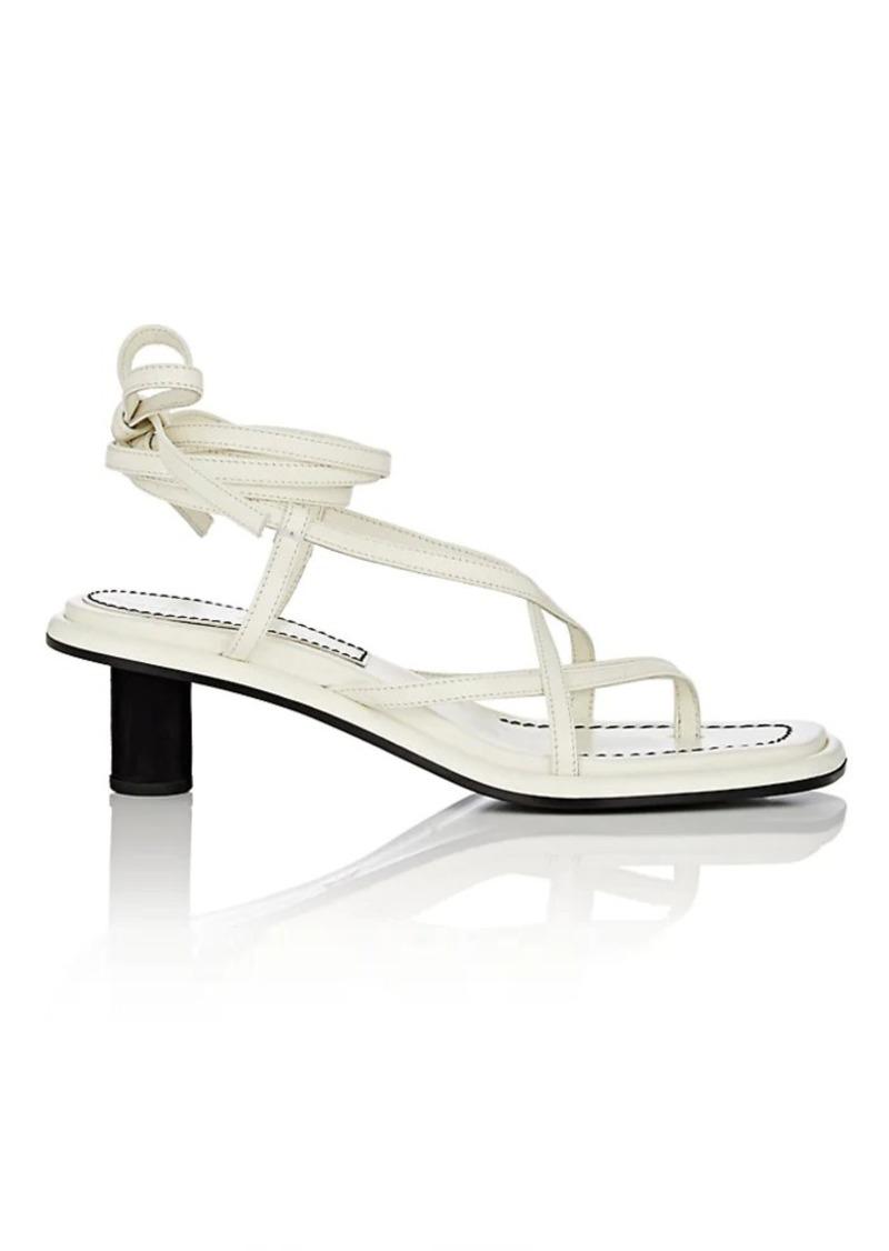 Proenza Schouler Women's Leather Ankle-Tie Sandals