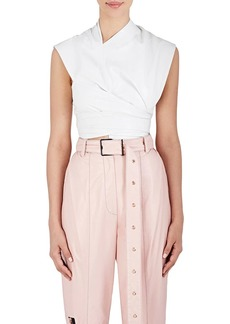 Proenza Schouler Women's Leather Crop Top