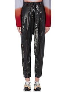 Proenza Schouler Women's Leather Straight-Leg Pants