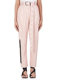 Proenza Schouler Women's Leather Straight-Leg Pants
