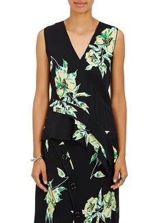 Proenza Schouler Women's Lily-Print Silk Top