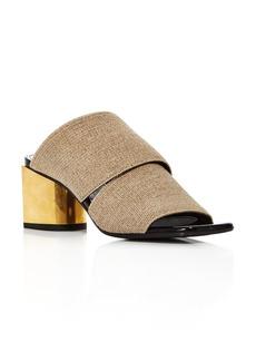 Proenza Schouler Women's Metallic Block Heel Mules