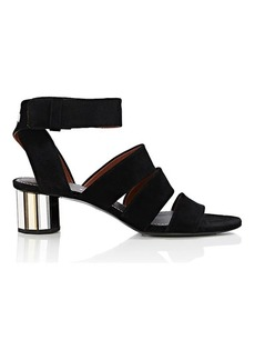 Proenza Schouler Women's Mirrored-Heel Suede Sandals