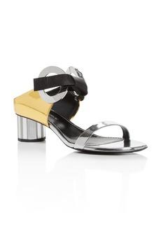 Proenza Schouler Women's Mixed Media Mirror-Heel Sandals