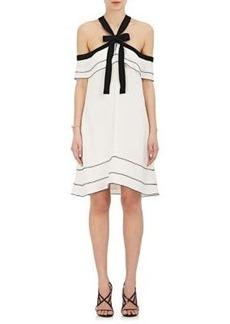 Proenza Schouler Women's Off-The-Shoulder Halter Tie-Neck Dress
