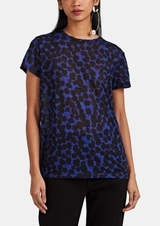 Proenza Schouler Women's Painted-Dot Slub Cotton T-Shirt