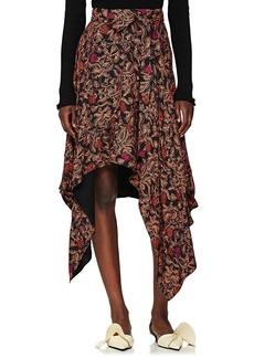 Proenza Schouler Women's Paisley Georgette Asymmetric Skirt