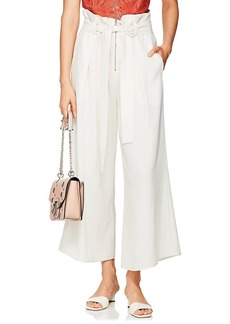 Proenza Schouler Women's Paperbag-Waist Crepe Pleated Trousers