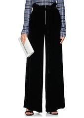 Proenza Schouler Women's Paperbag-Waist Velvet Trousers
