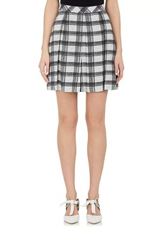 Proenza Schouler Women's Pleated Checked Crepe Miniskirt