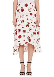Proenza Schouler Women's Poppy-Print Crepe Tiered Skirt