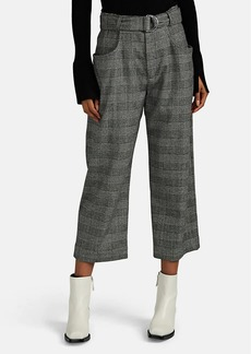 Proenza Schouler Women's Prince of Wales Checked Crop Pants