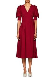 Proenza Schouler Women's Puff-Sleeve Crepe Wrap Dress