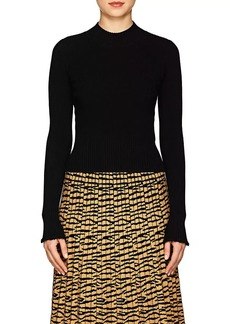 Proenza Schouler Women's Raw-Edge Rib-Knit Fitted Sweater