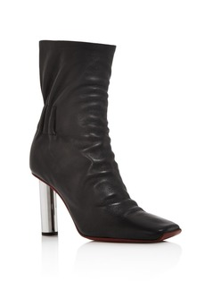 Proenza Schouler Women's Ruched Leather Booties