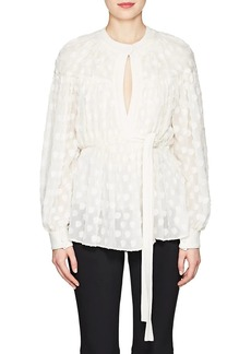 Proenza Schouler Women's Silk-Cotton Fil Coupé Blouse