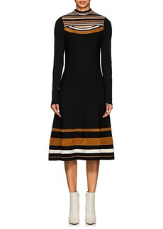 Proenza Schouler Women's Slit-Chest Multi-Striped Dress