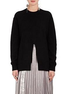 Proenza Schouler Women's Slit-Front Rib-Knit Wool-Blend Sweater