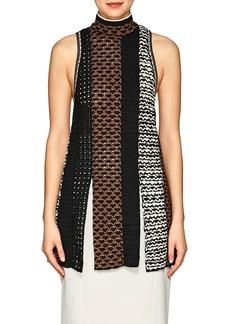 Proenza Schouler Women's Slit-Hem Crochet Top