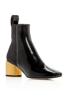 Proenza Schouler Women's Square-Toe Block-Heel Booties