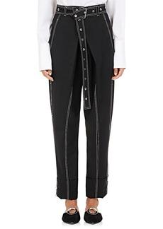 Proenza Schouler Women's Stretch-Wool Belted Pants