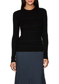 Proenza Schouler Women's Striped Cashmere-Blend Fitted Sweater