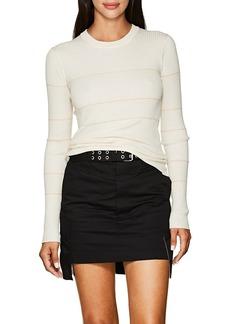 Proenza Schouler Women's Striped Cashmere-Blend Fitted Sweater