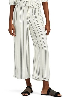 Proenza Schouler Women's Striped Gauze Crop Wide-Leg Pants