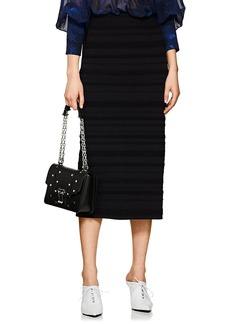 Proenza Schouler Women's Striped Jacquard Fitted Midi-Skirt
