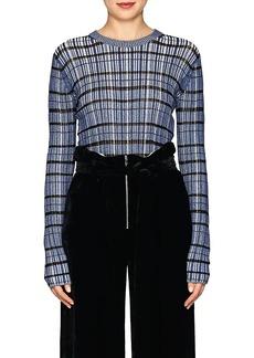 Proenza Schouler Women's Striped Silk-Blend Crop Sweater