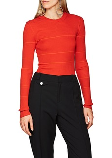 Proenza Schouler Women's Striped Silk-Blend Fitted Sweater