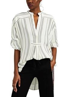 Proenza Schouler Women's Striped Textured Gauze Tunic Top