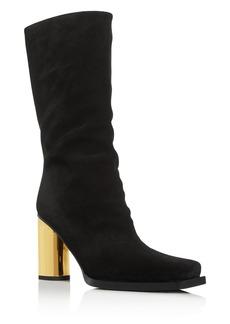 Proenza Schouler Women's Sucal Square-Toe Block-Heel Boots