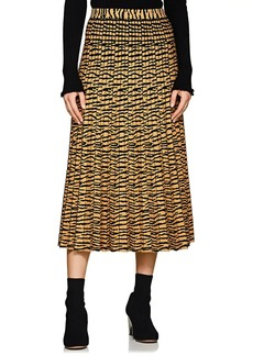 Proenza Schouler Women's Tiger-Pattern Pleated Midi-Skirt