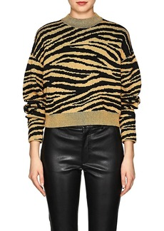 Proenza Schouler Women's Tiger-Pattern Rib-Knit Sweater