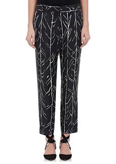 Proenza Schouler Women's Tree-Stem-Print Silk Twill Trousers