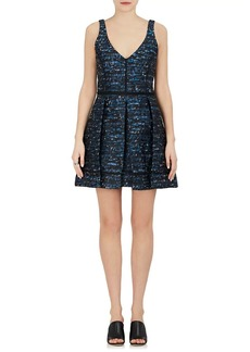 Proenza Schouler Women's Wave-Pattern Jacquard A-Line Dress